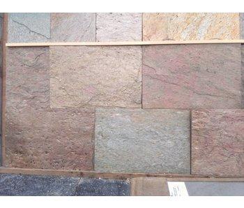 258 m2 Kwartsiet multicolor binnenvloer 40x60x1,2cm