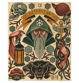 "Sebastian Domaschke ""IX - The Hermit"" - The Major Arcana Tarot Flash -Sebastian Domaschke"