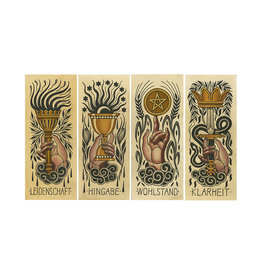 Sebastian Domaschke The Tarot  Aces - Set of 4 - The Tarot Flash Set - Sebastian Domaschke