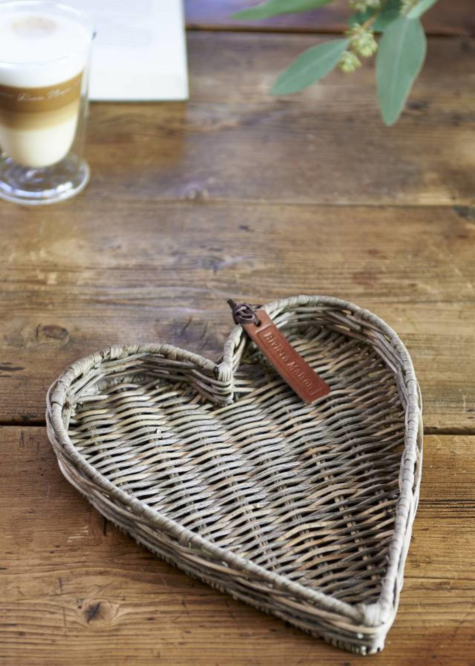 Riviera Maison Rustic Rattan Heart Mini Tray