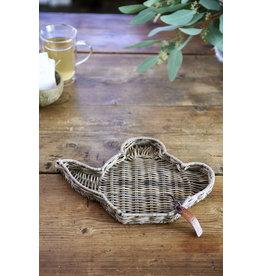 Riviera Maison Rustic Rattan Teapot Mini Tray