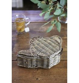 Riviera Maison Rustic Rattan Teapot Tea Box