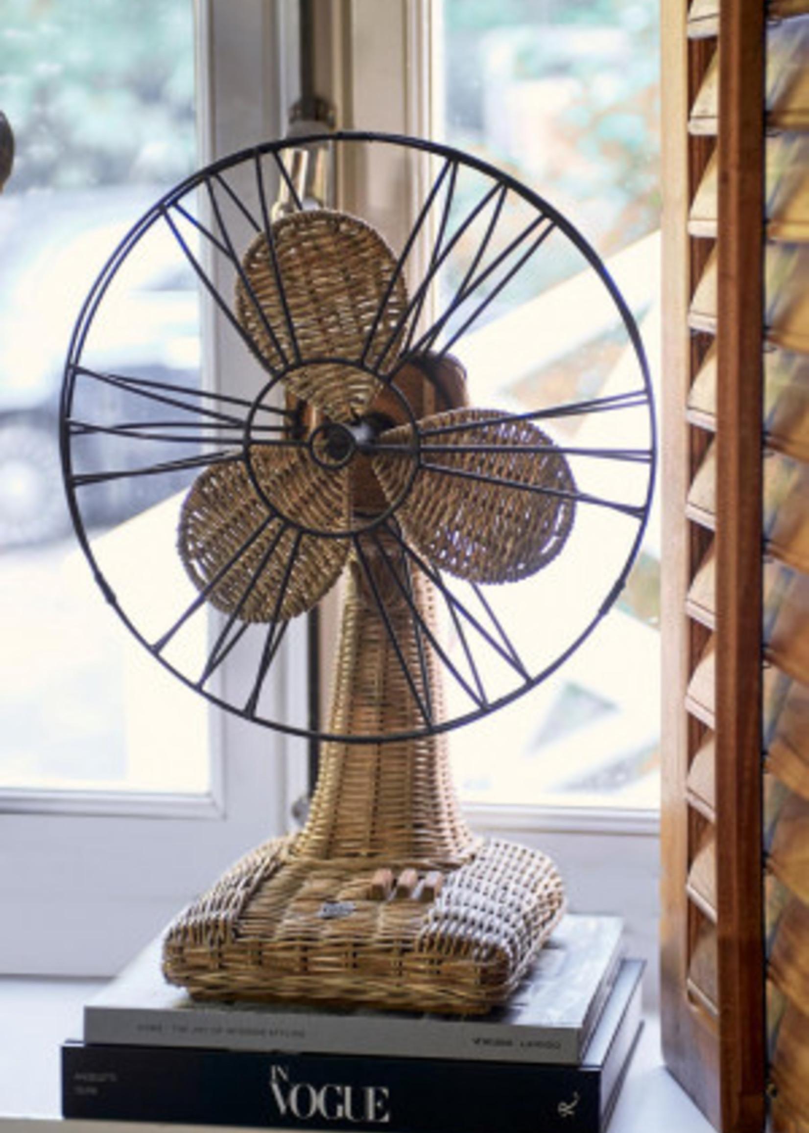 Riviera Maison Rustic Rattan Table Fan