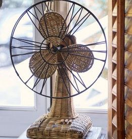 Riviera Maison Rustic Rattan Table Fan