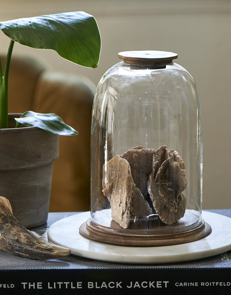 Riviera Maison Biarritz Dome with Wooden Base M