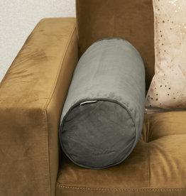 Riviera Maison Velvet Roll Pillow slate grey 55x19