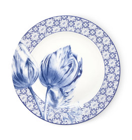 Janny van der Heijden Plate rim tulip tiles 21cm