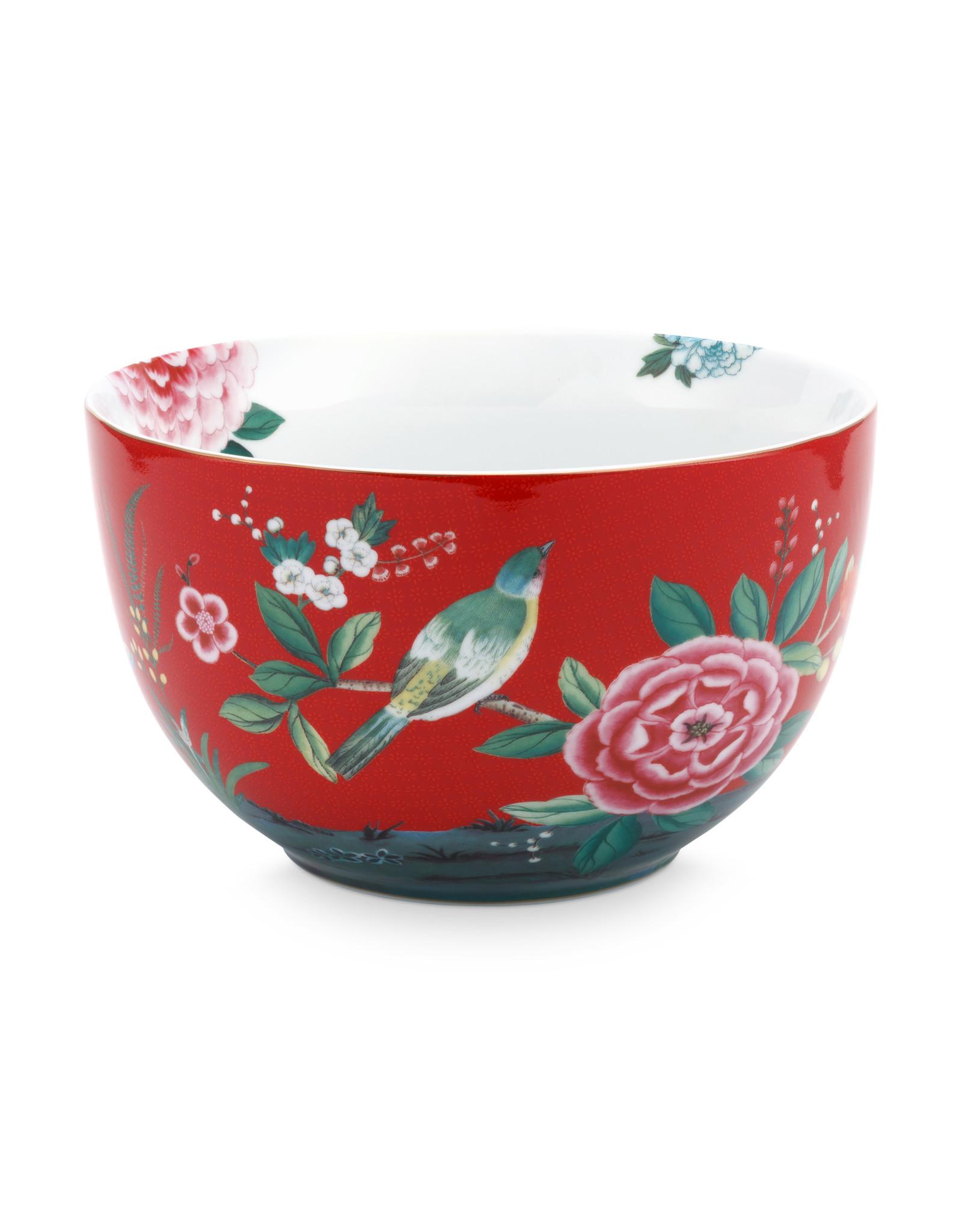pip studio bowl blushing birds red 23cm