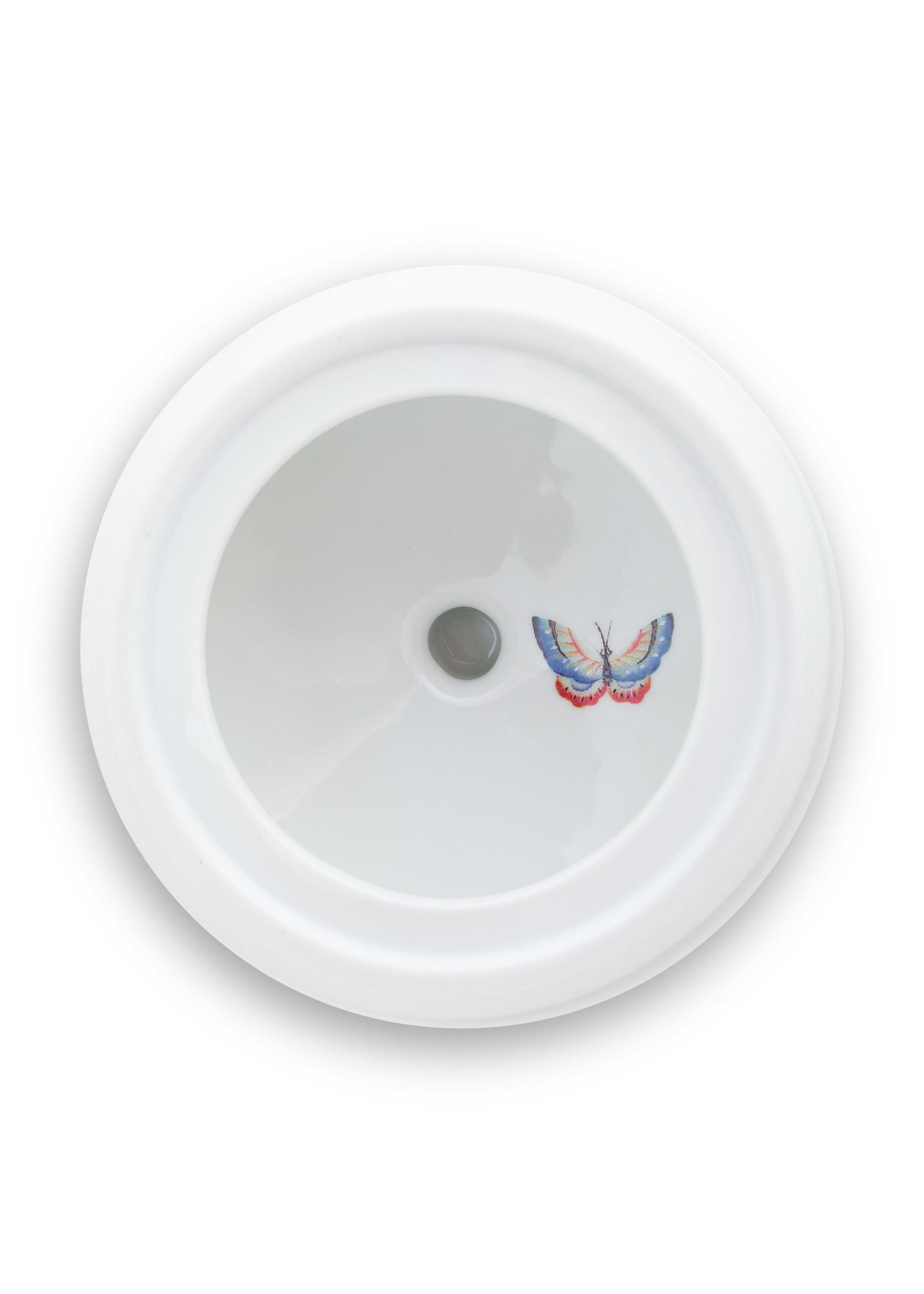 pip studio Storage Jar Blushing Birds White 1.5ltr