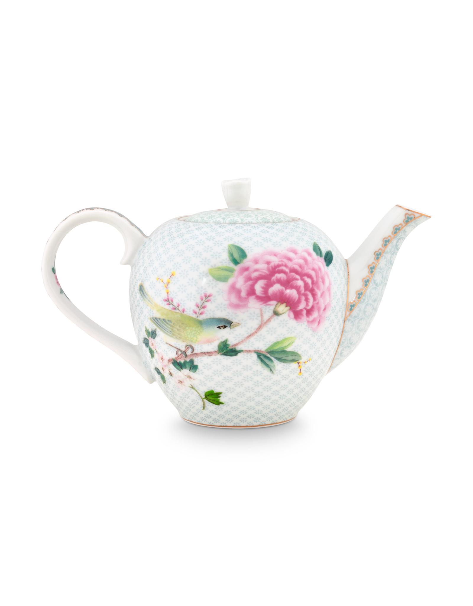 pip studio tea pot small blushing birds white 750ml