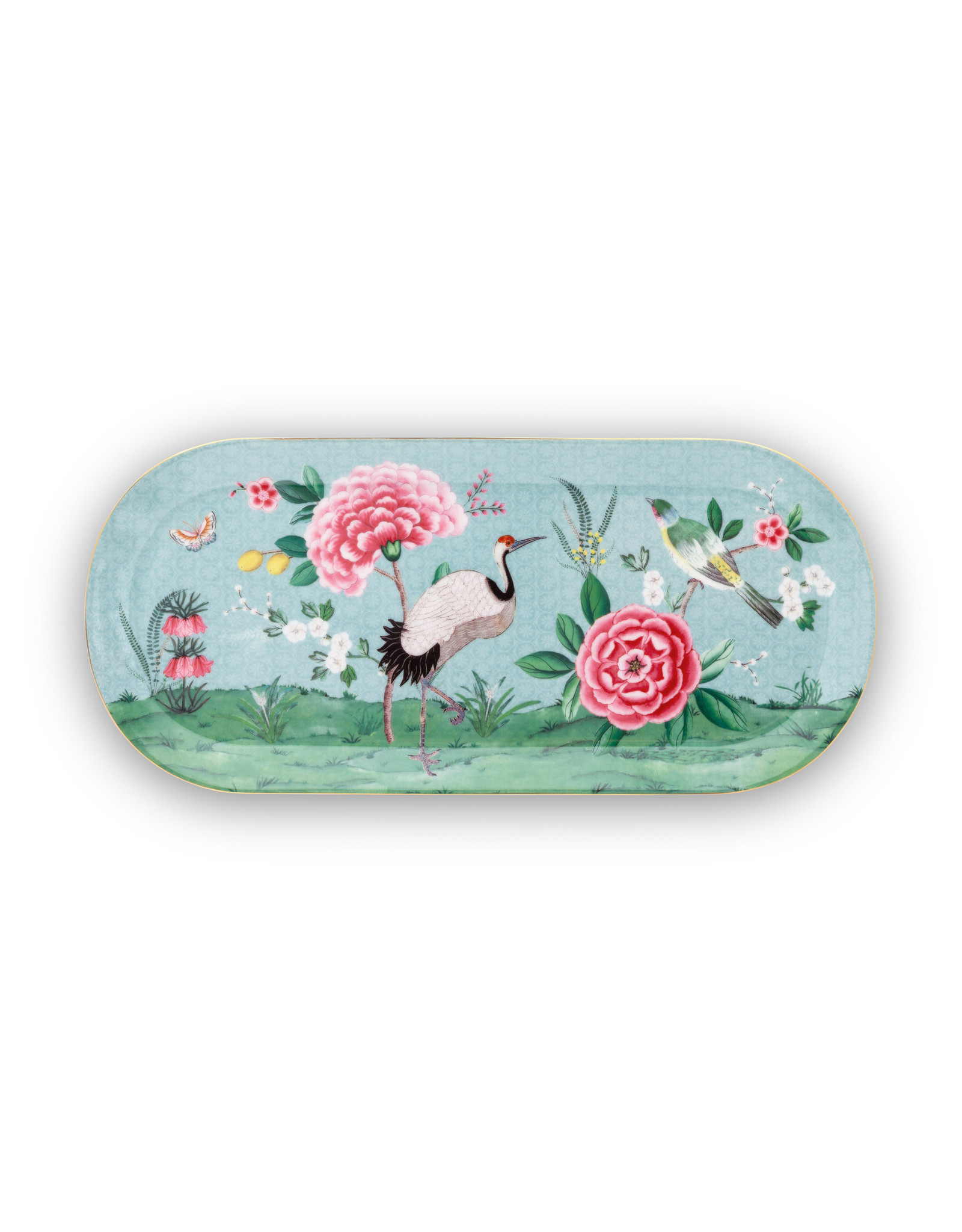 pip studio Cake Tray Rectangular Blushing Birds Blue 33.3x15.5cm