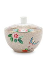 pip studio Sugar bowl blushing birds khaki 300ml