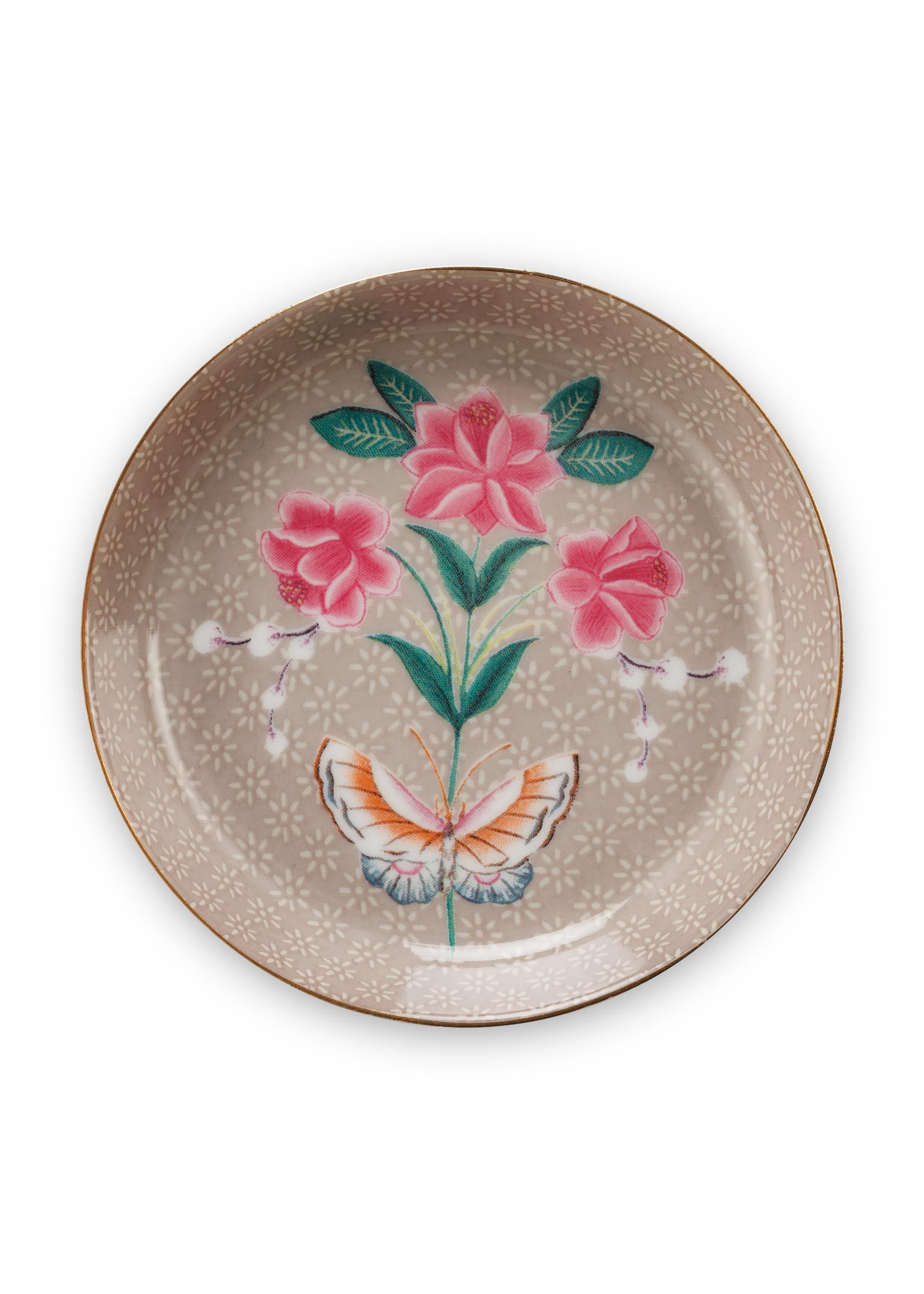 pip studio Tea Tip Blushing Birds Khaki 9cm