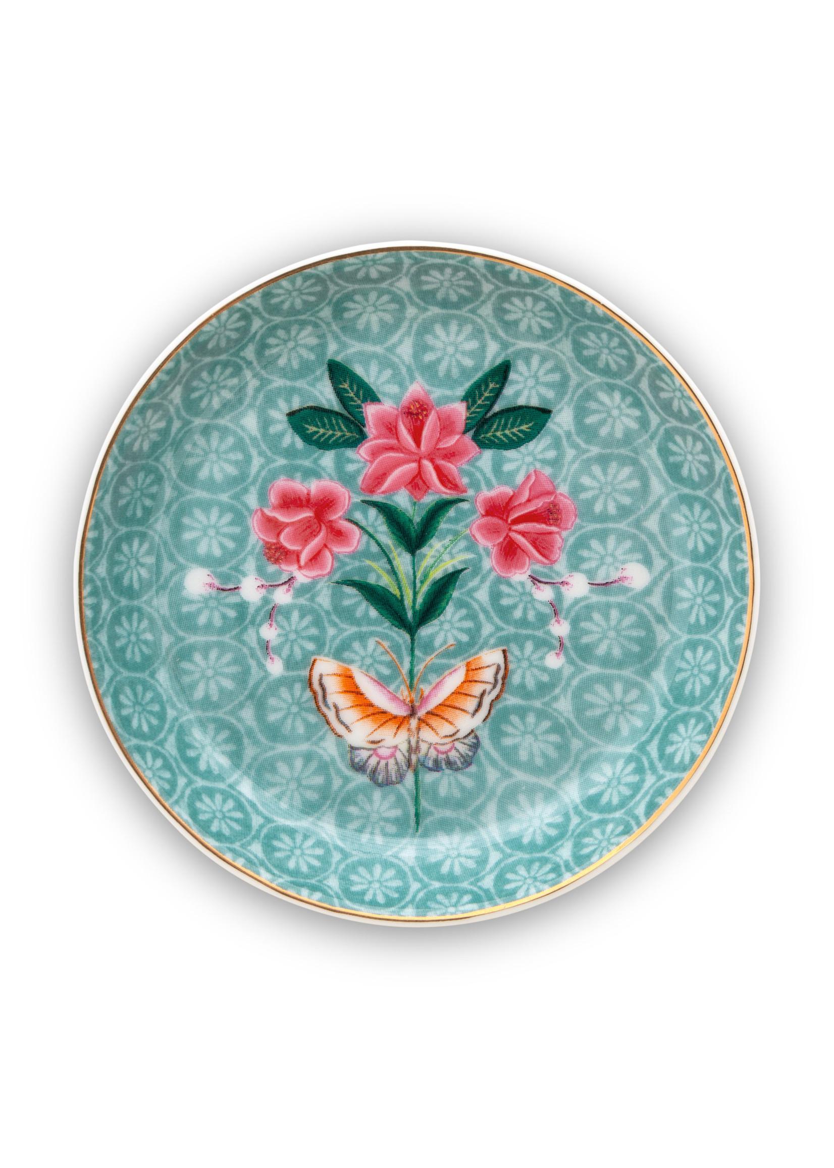 pip studio Tea Tip Blushing Birds Blue 9cm