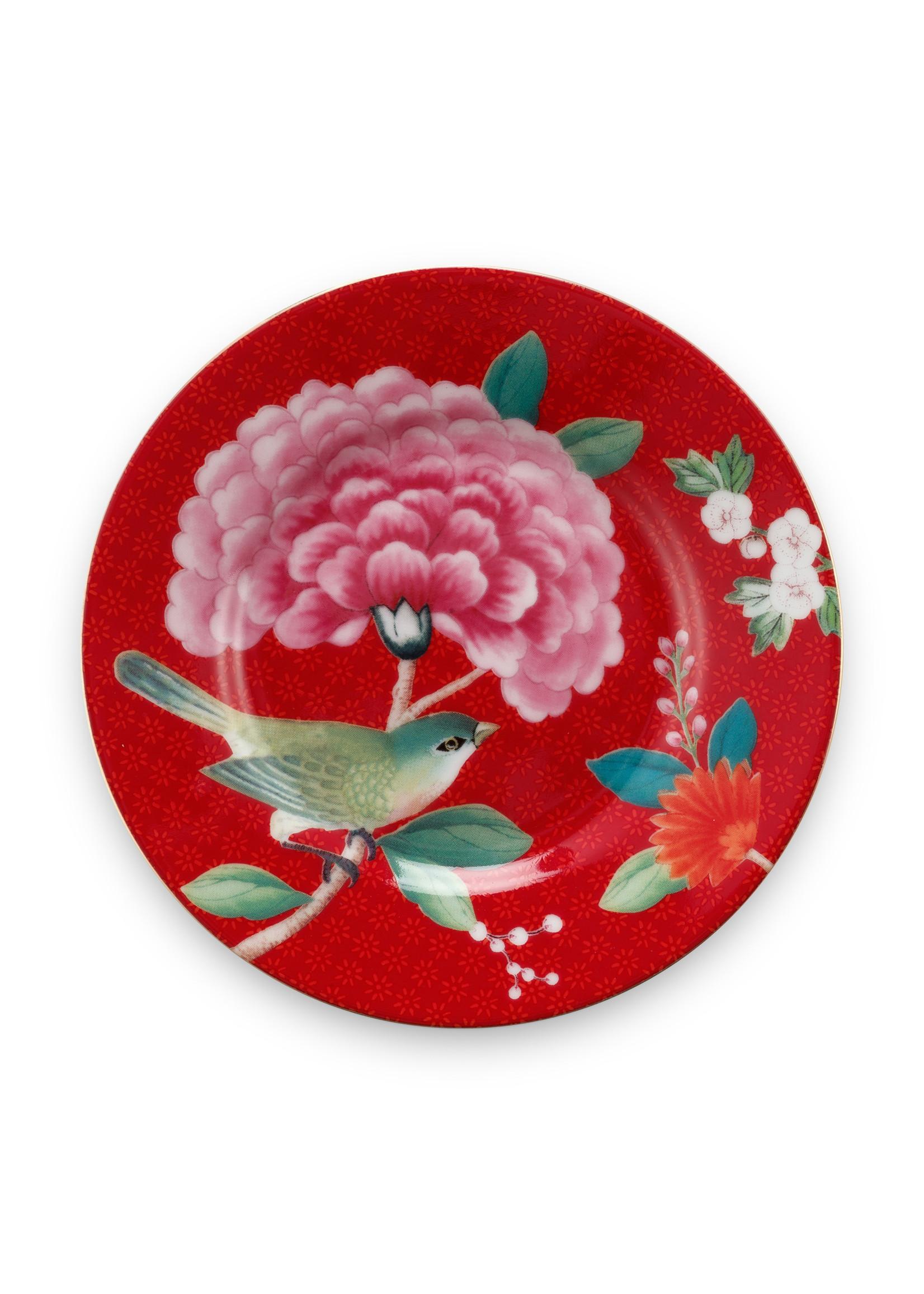 pip studio Petit Four Blushing Birds Red 12cm