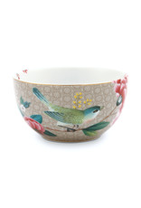 pip studio Bowl Blushing Birds Khaki 12cm