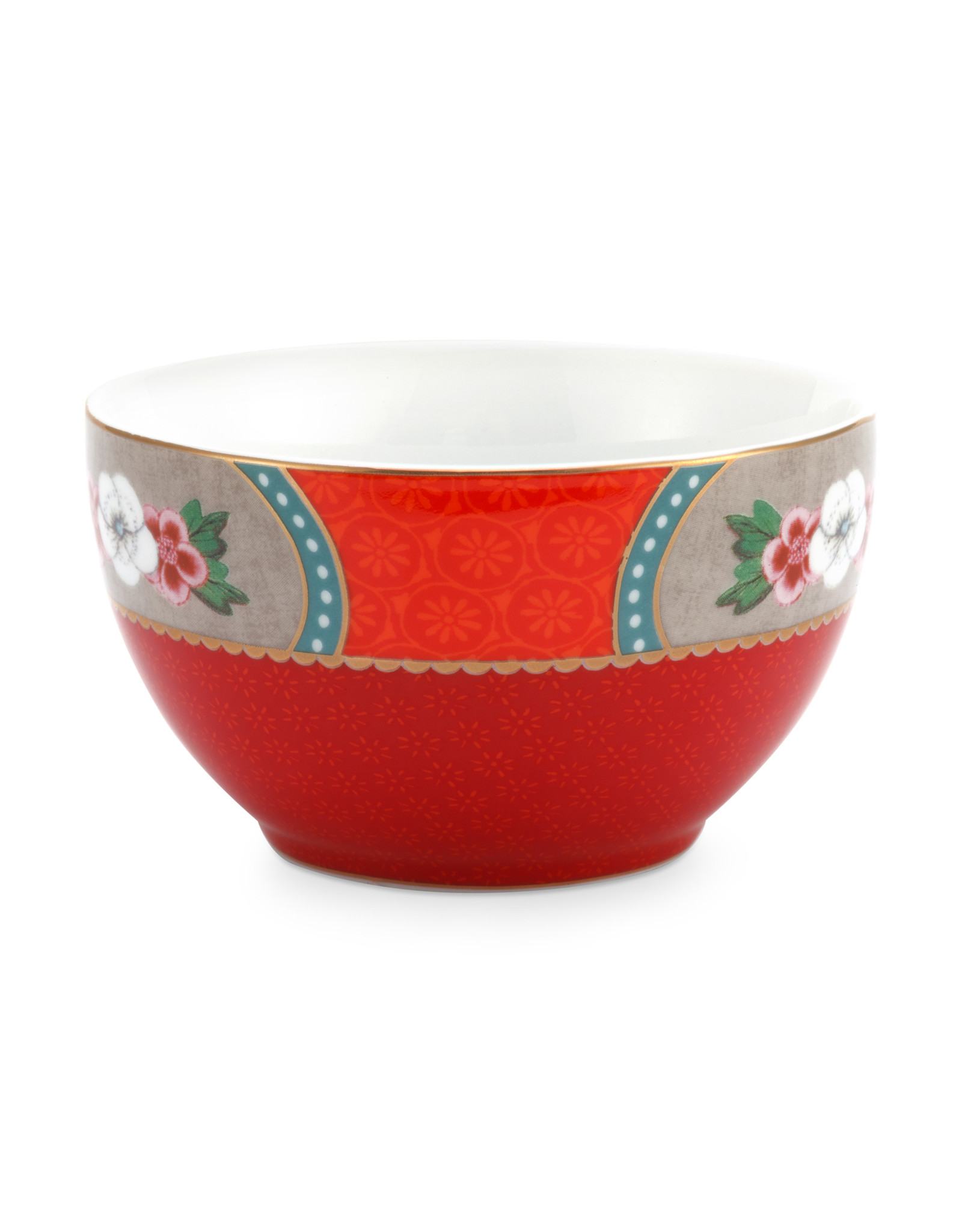 pip studio Bowl Star Flower Red 9.5cm