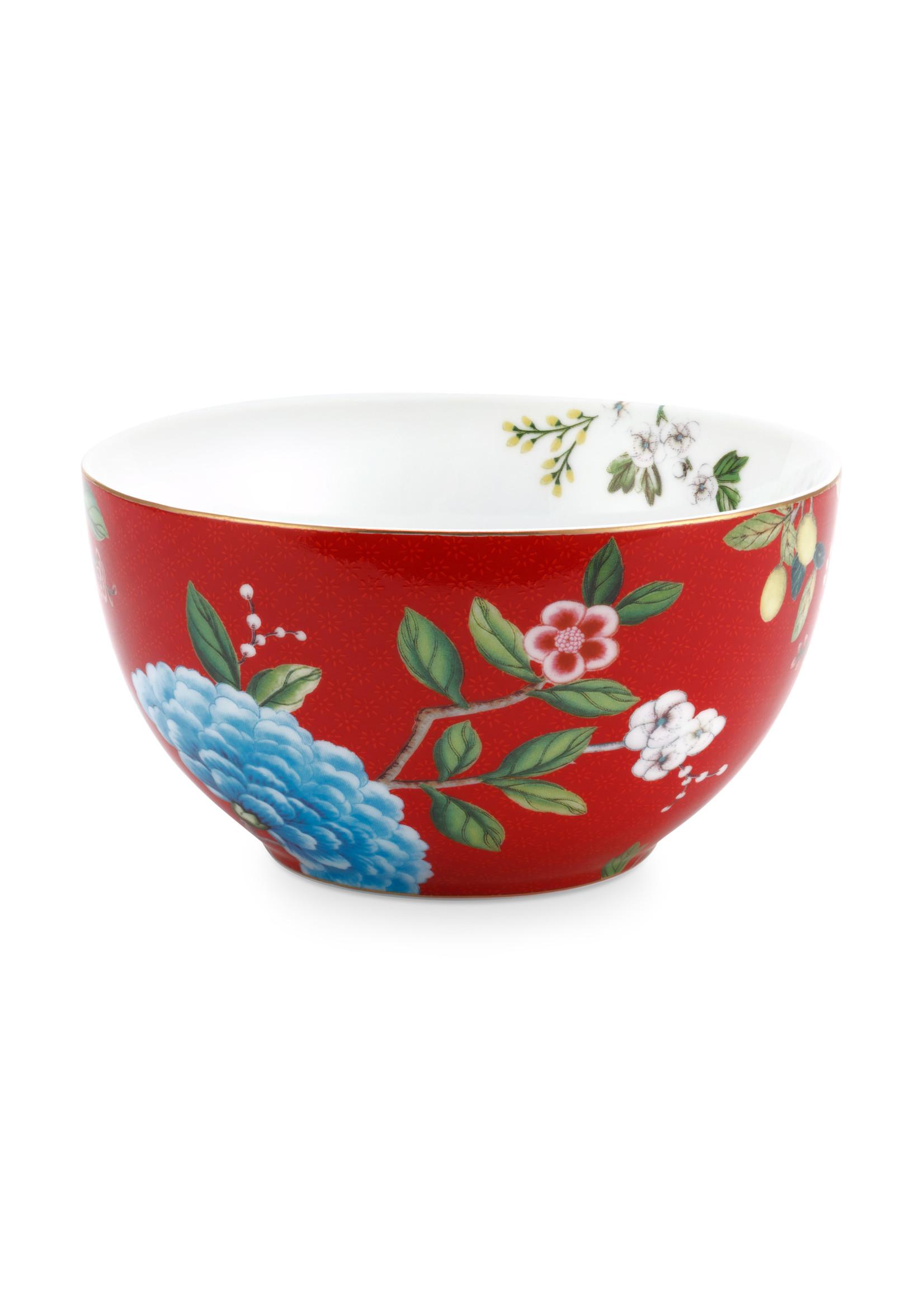 pip studio Bowl Blushing Birds Red 15cm