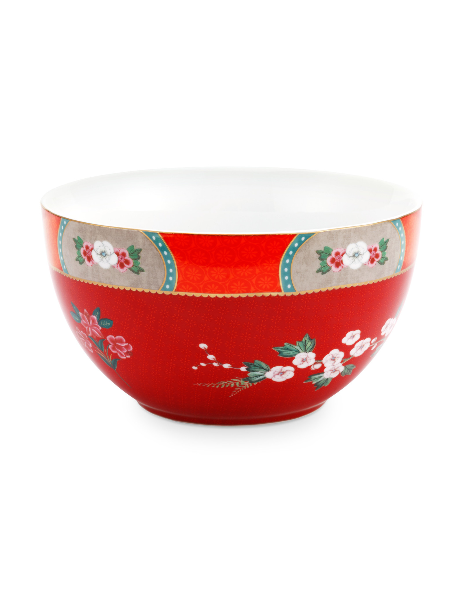 pip studio Bowl Blushing Birds Red 18cm