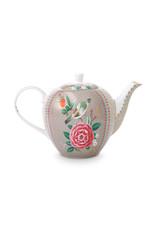 pip studio Tea Pot Large Blushing Birds Khaki 1.6ltr