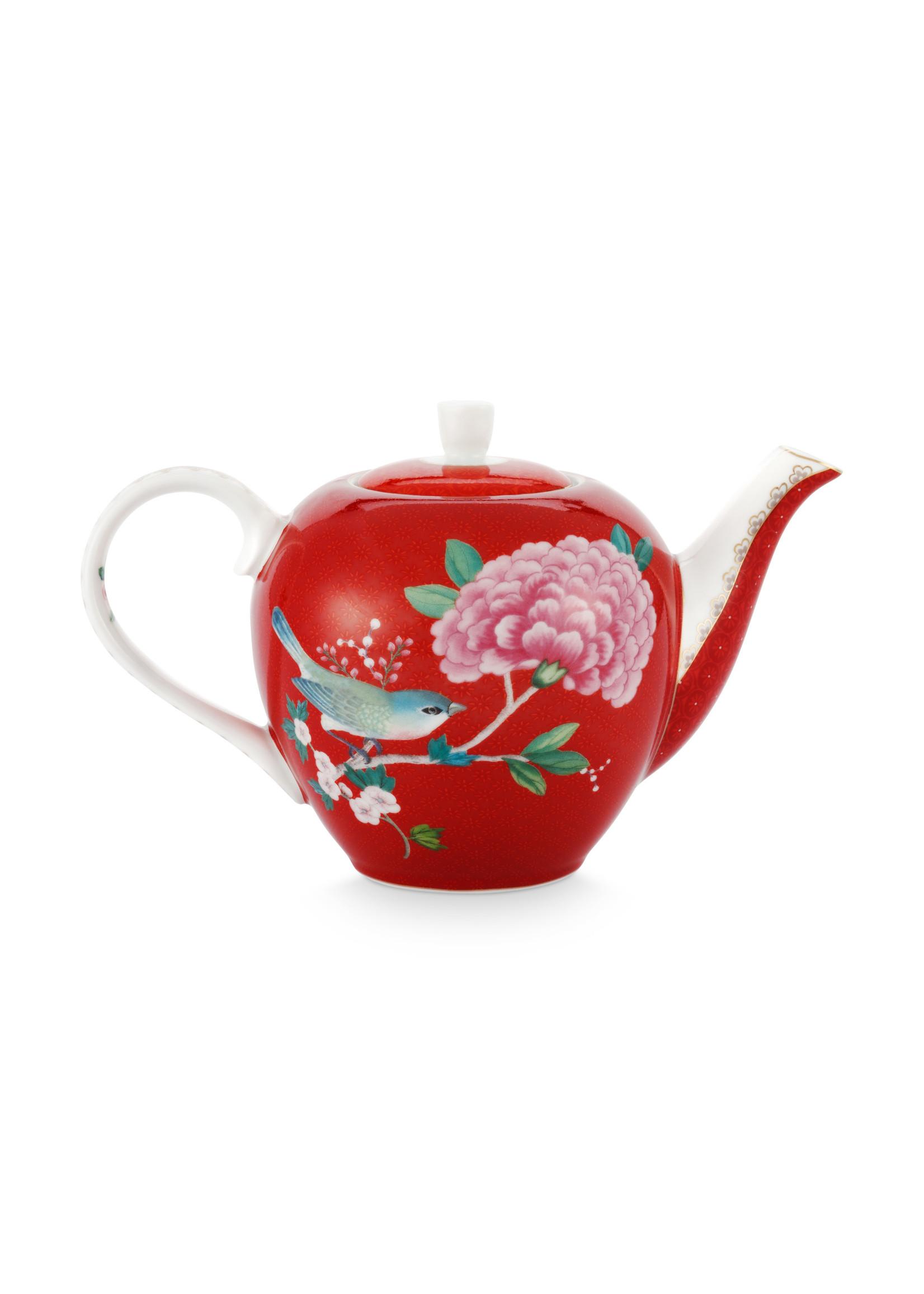 pip studio Tea Pot Small Blushing Birds Red 750ml