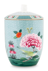 pip studio Storage Jar Blushing Birds Blue 1.5ltr