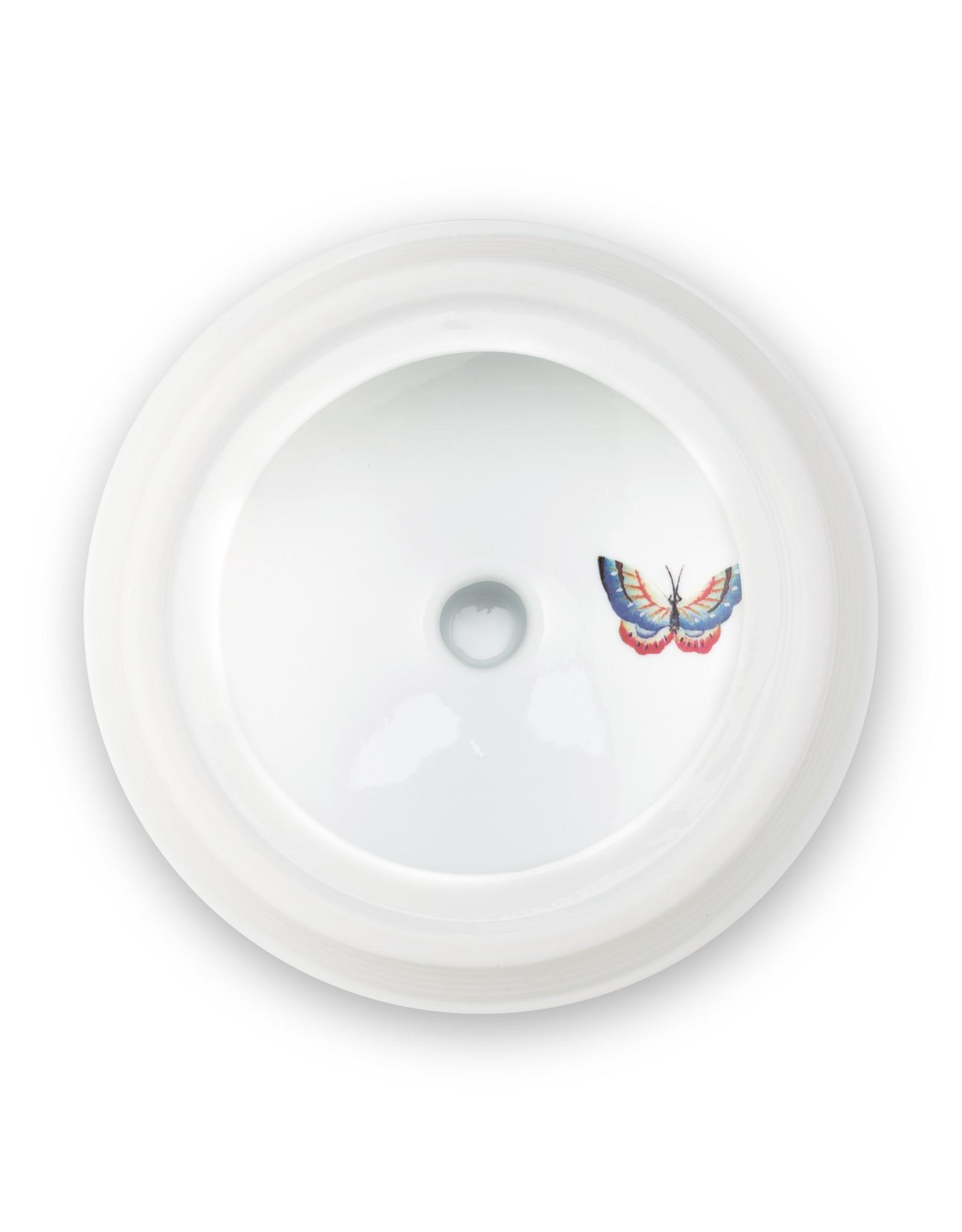 pip studio Storage Jar Blushing Birds Khaki 1.5ltr