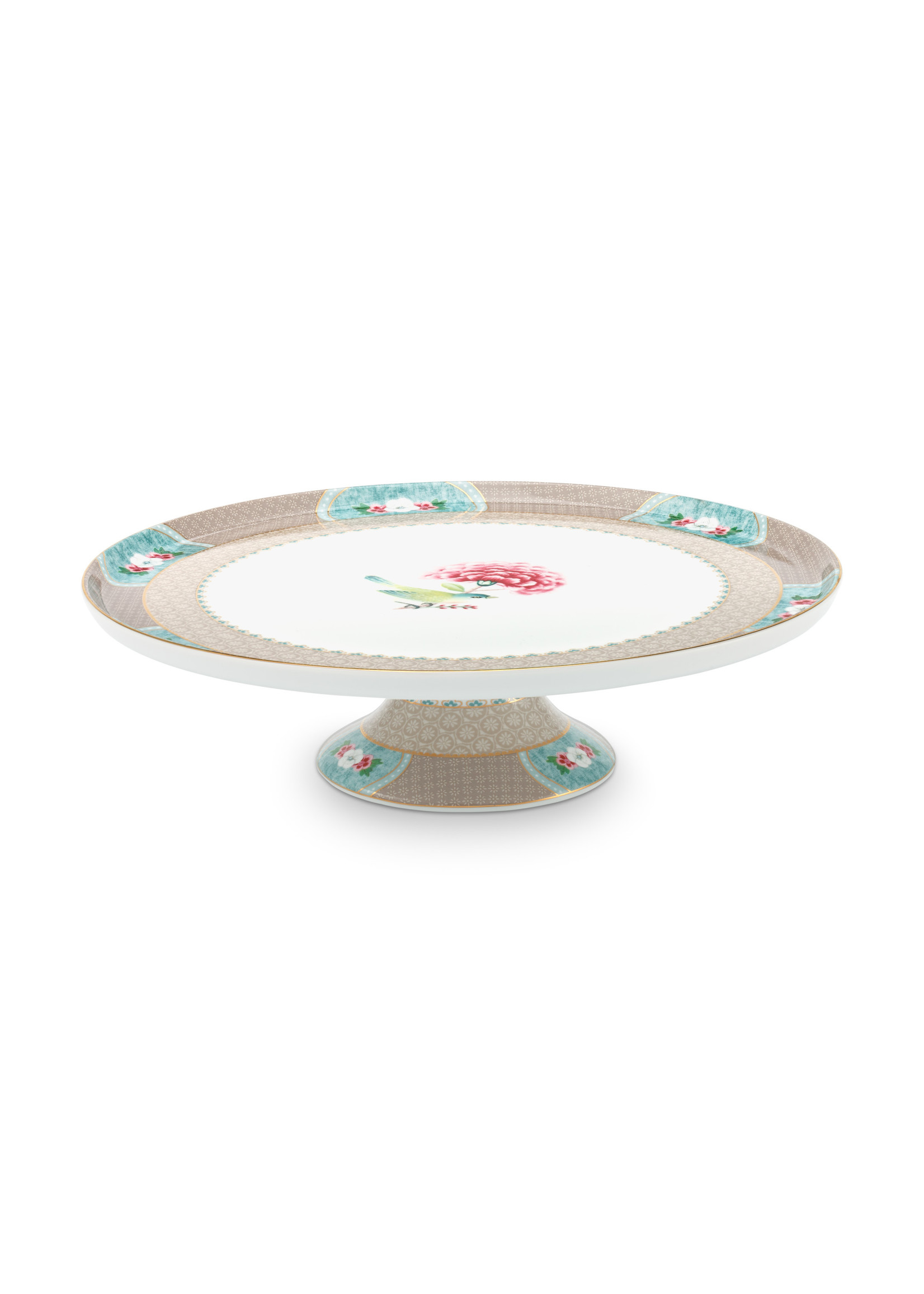 pip studio Cake Tray Blushing Birds Khaki 30.5cm