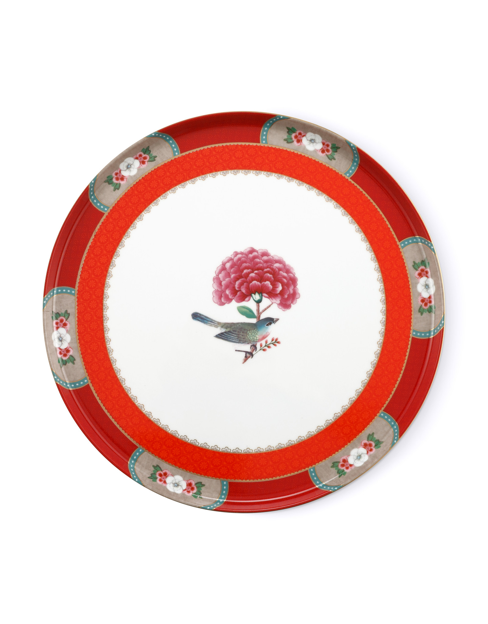 pip studio Cake Tray Blushing Birds Red 30.5cm