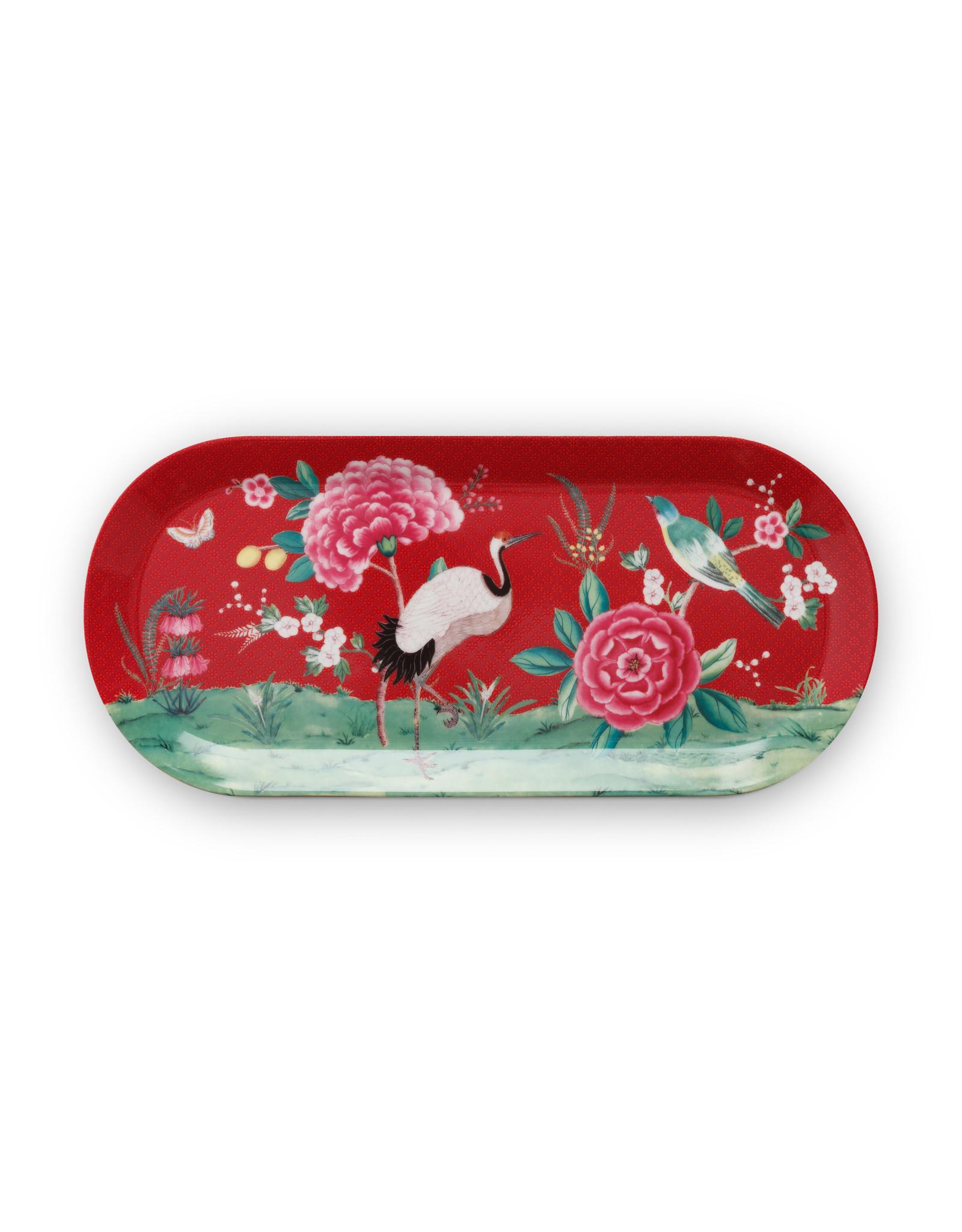 pip studio Cake Tray Rectangular Blushing Birds Red 33.3x15.5cm