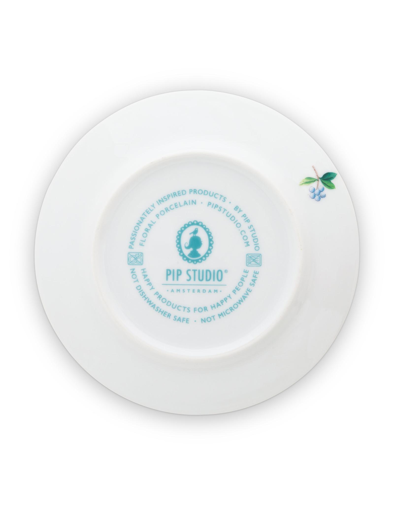pip studio Plate Blushing Birds White 17cm