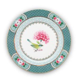 pip studio Plate Blushing Birds Blue 17cm