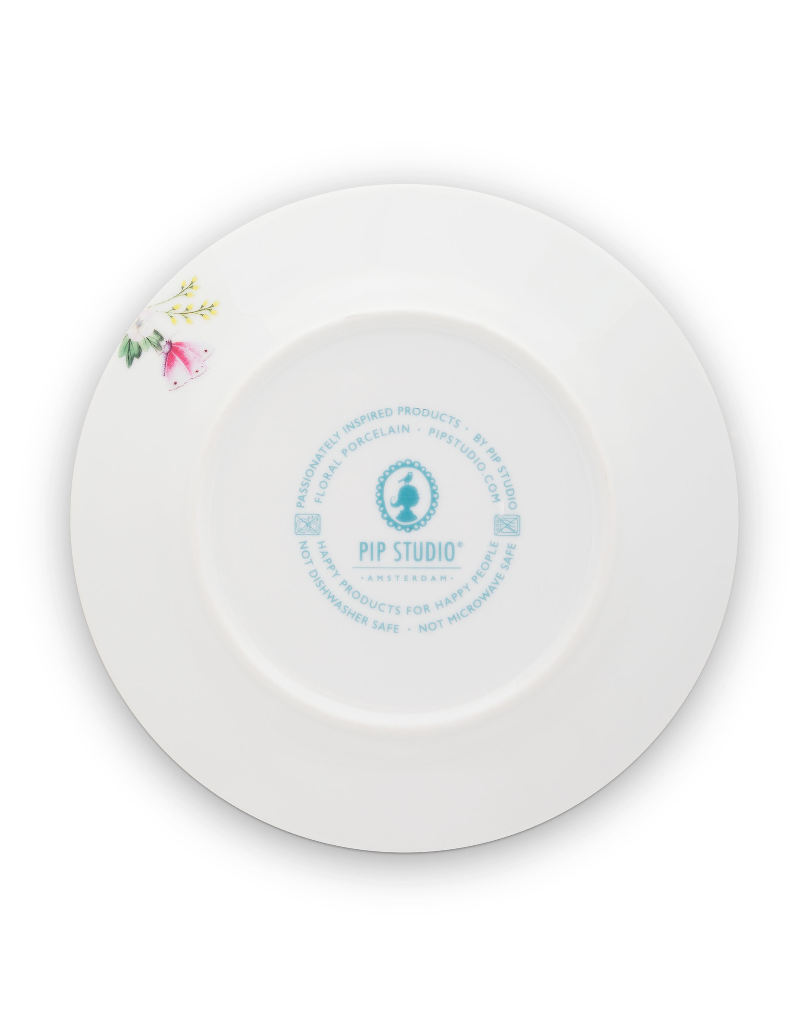 pip studio Plate Blushing Birds Blue 21cm