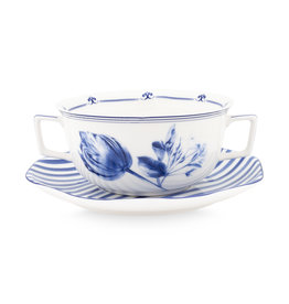 Janny van der Heijden Soup cup and saucer Tulip Stripes 390 ml