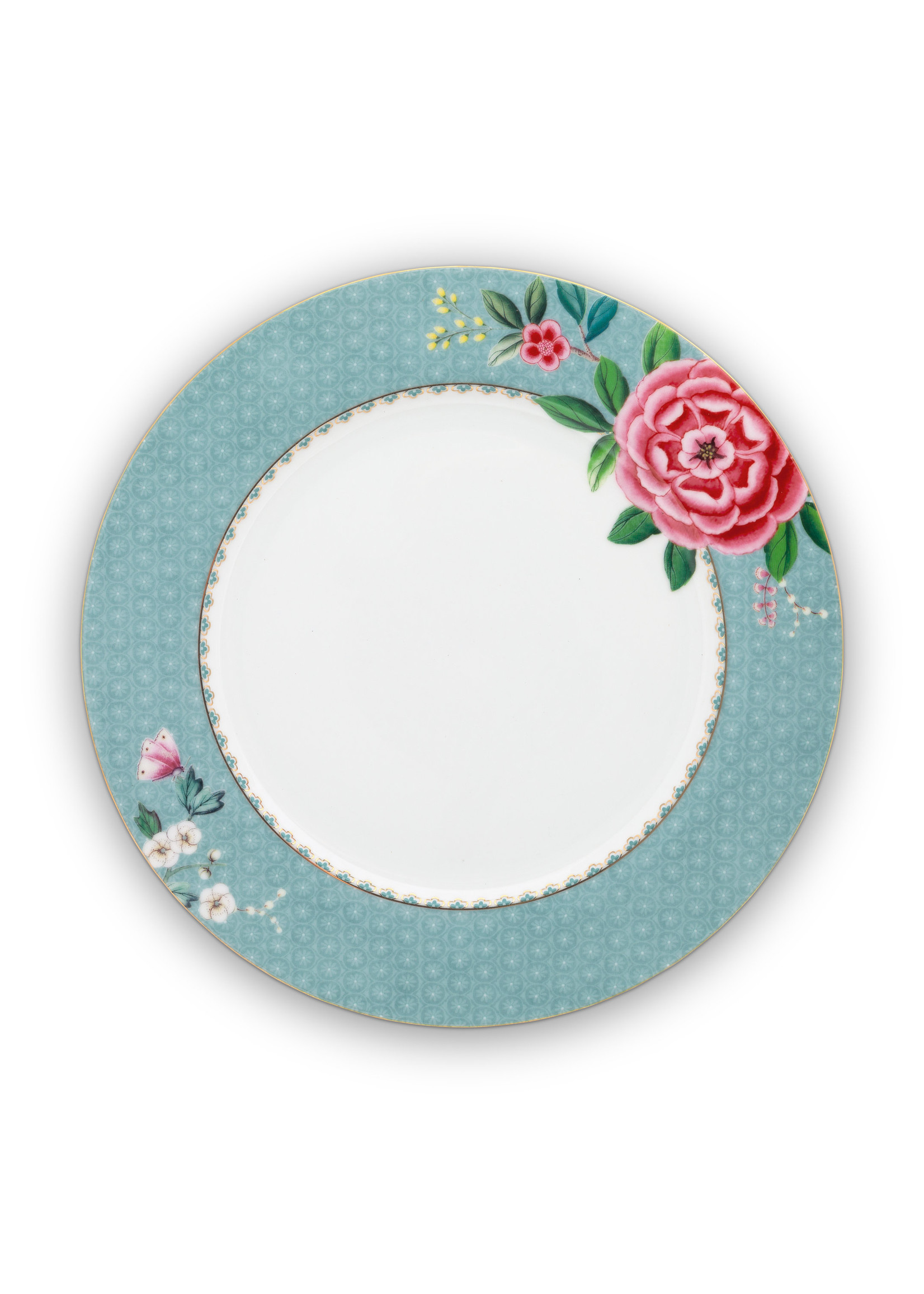 pip studio Plate blushing birds blue 26.5