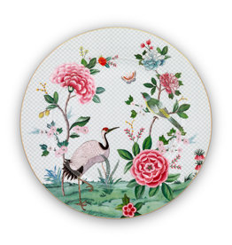 pip studio Plate blushing birds white 32 cm