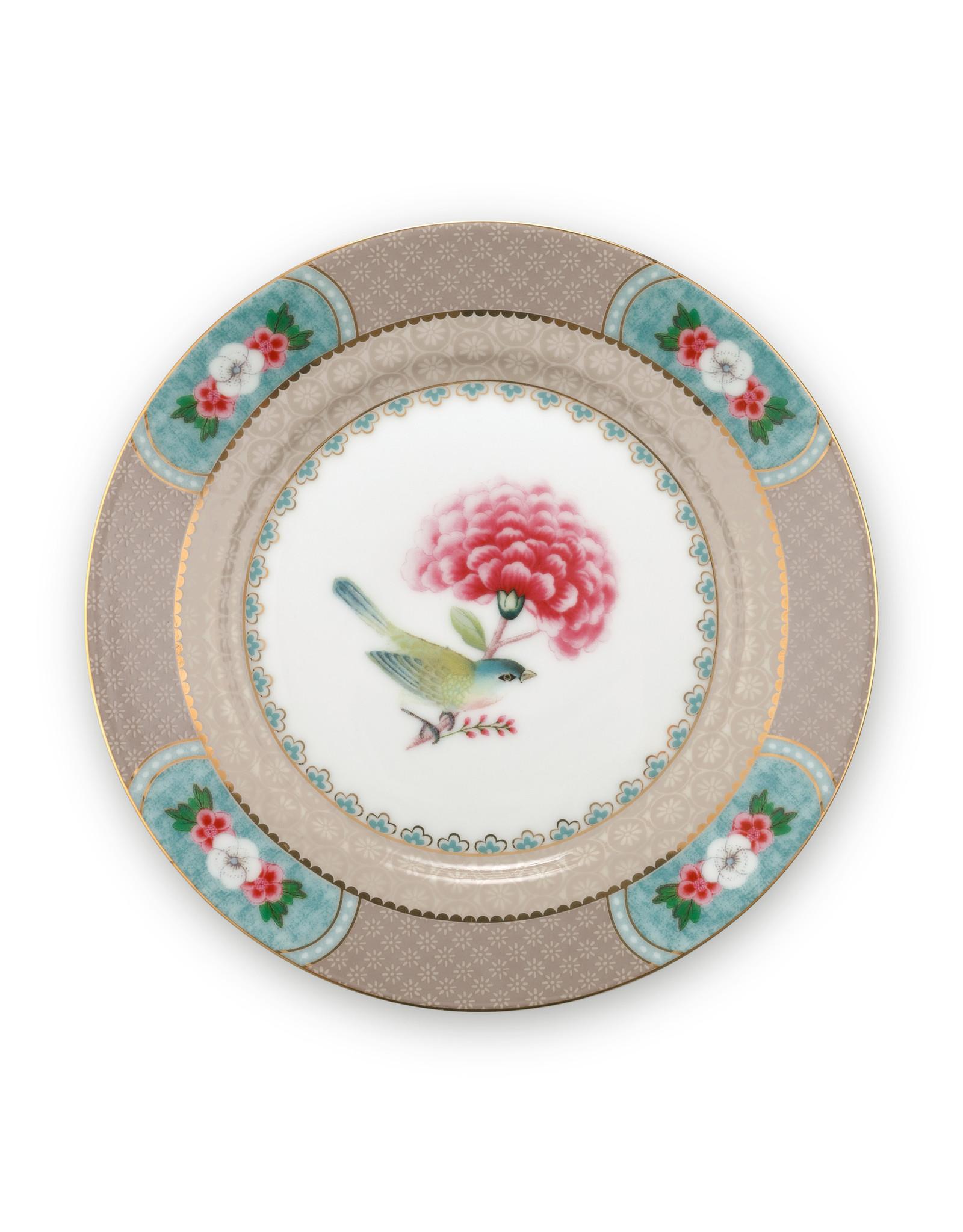 pip studio Plate blushing birds Khaki 17 cm
