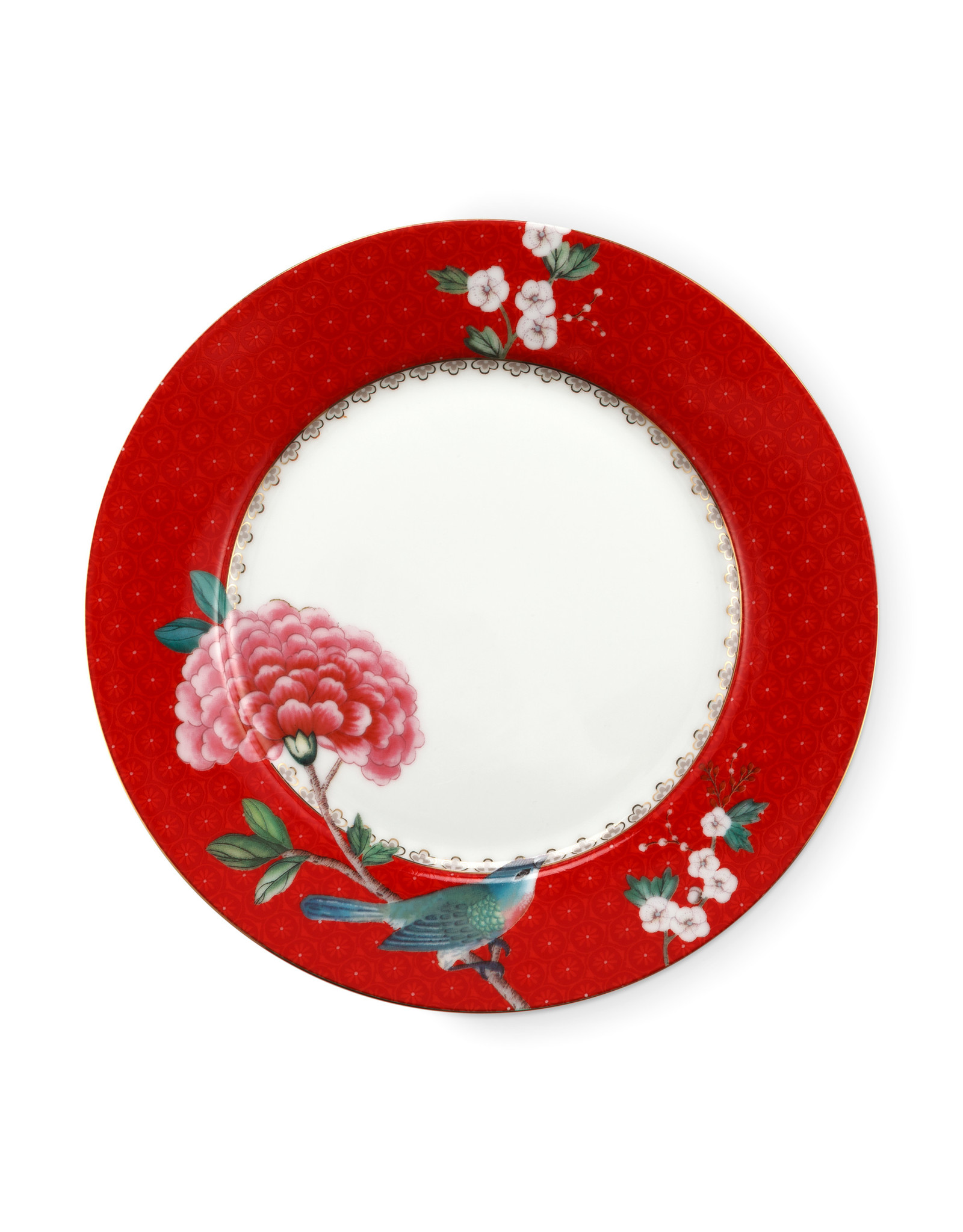 pip studio Plate Blushing Birds Red 21cm