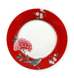 pip studio Plate Blushing Birds Red 21cm