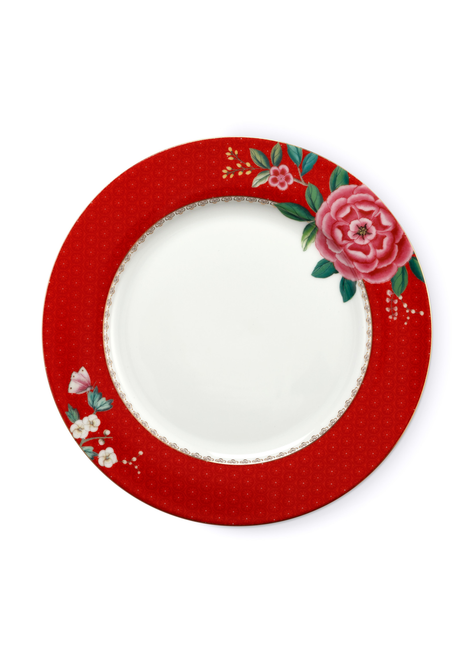 pip studio Plate blushing birds red 26.5 cm
