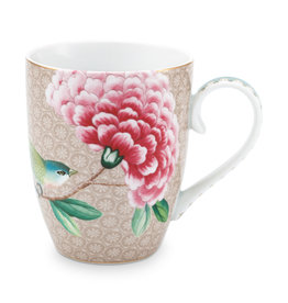 pip studio Mug Large Blushing birds Khaki 350ml