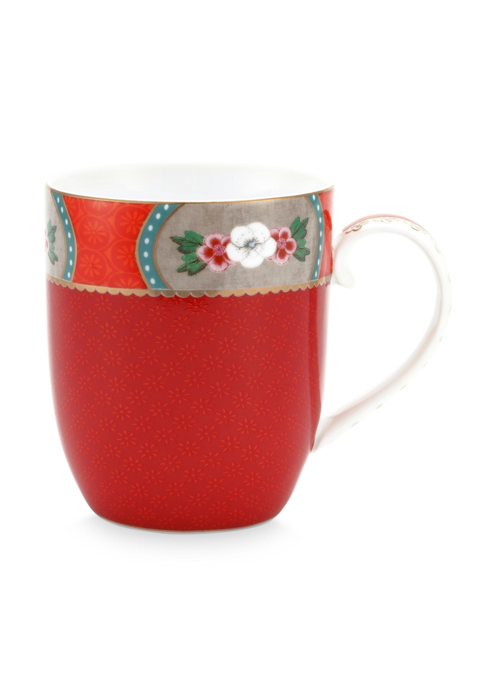 pip studio Mug small Blushing birds red 145ml