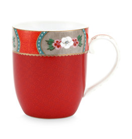 pip studio Mug small Blushing birds red 145ml