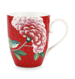 pip studio Mug Large Blushing birds Red 350ml