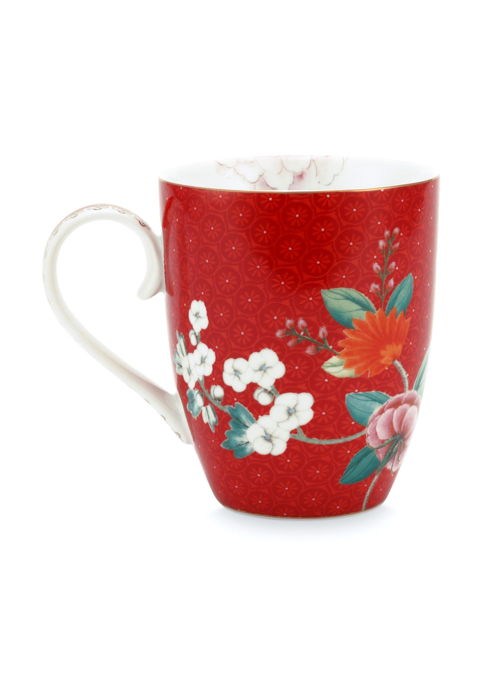 pip studio Mug Large Blushing birds Red 350ml