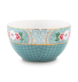 pip studio Bowl star flower Blue 9.5cm