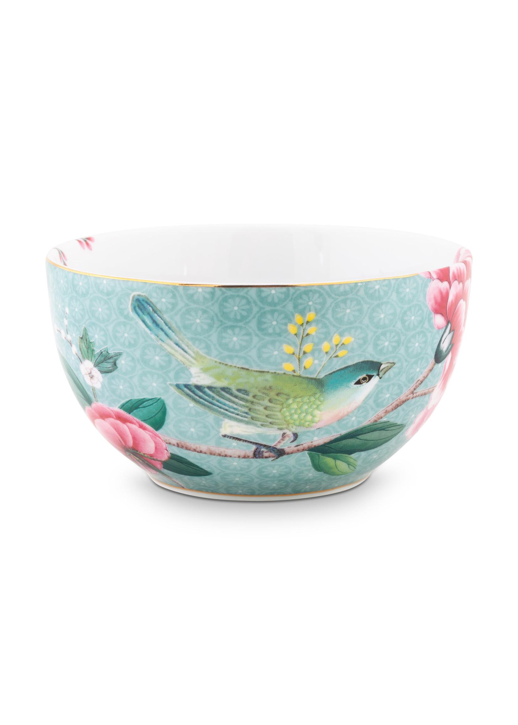 pip studio Bowl Blushing birds Blue 12 cm