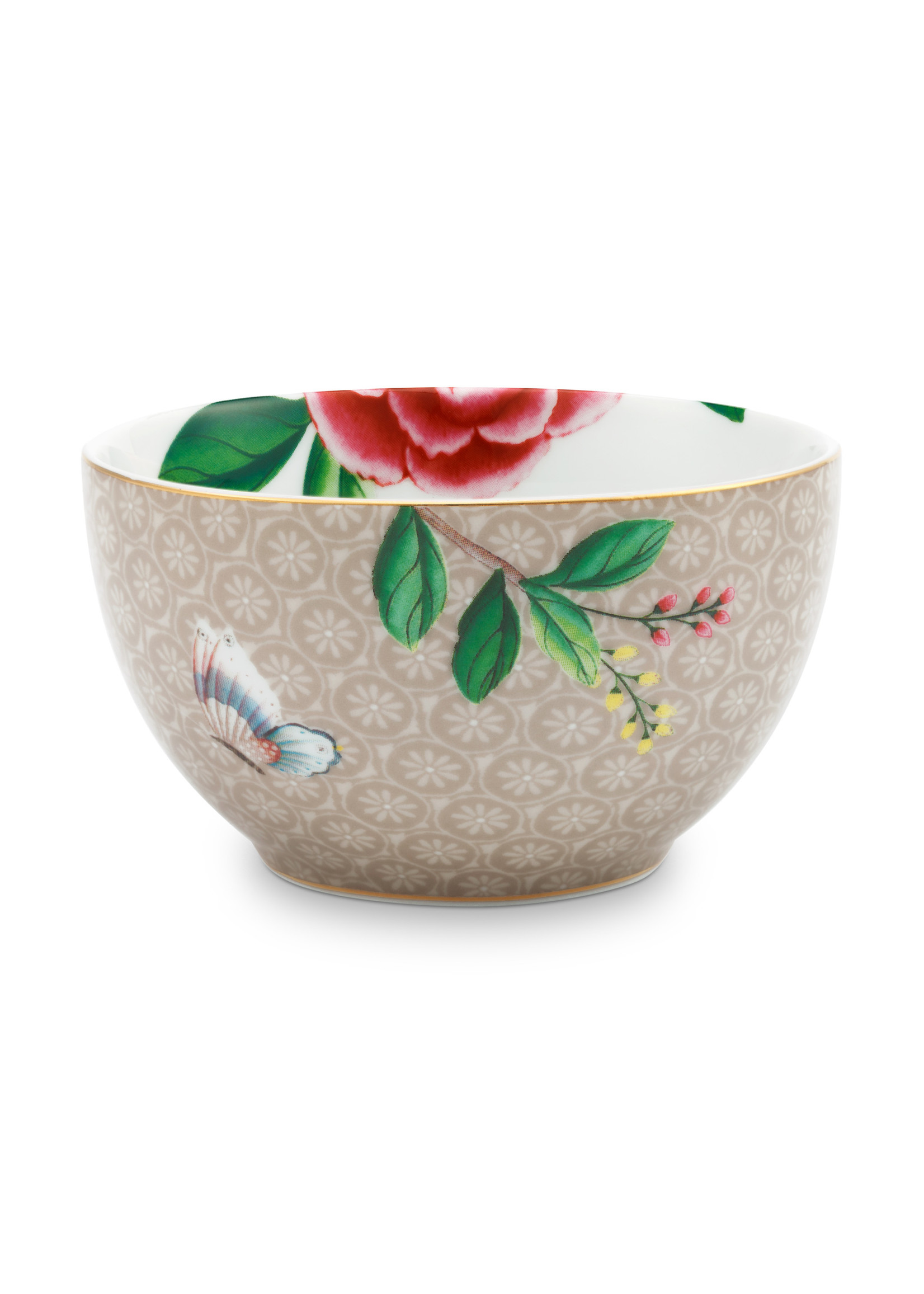 pip studio Bowl Star Flower Khaki 9.5cm