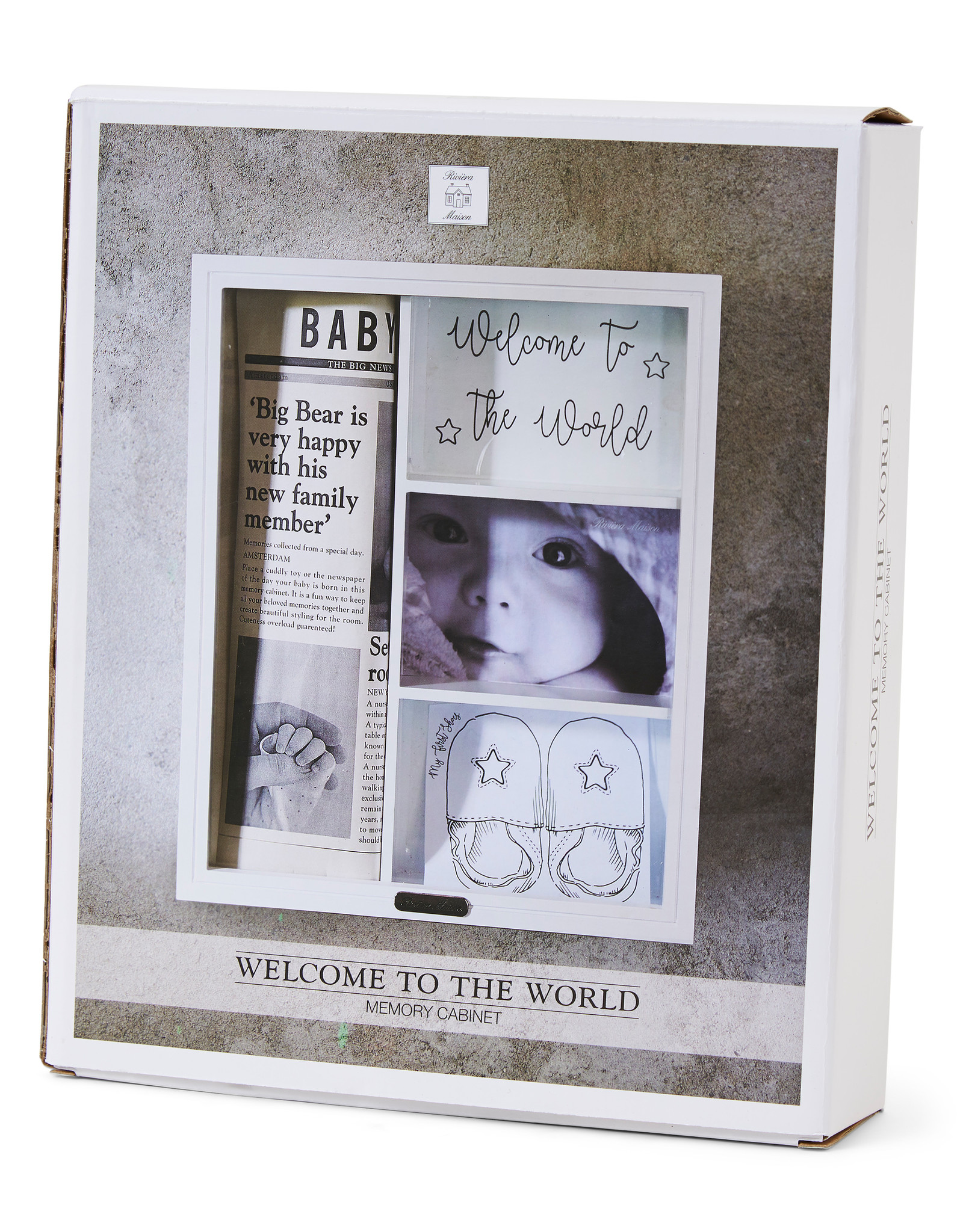 Riviera Maison Welcome to the world memory cabinet