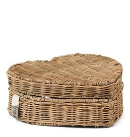 Riviera Maison RR Happy Heart Basket Low
